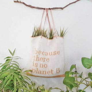 "PATRON TOTE ""NO PLANET B"""